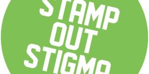 "logo of a green circle saying ""stamp out stigma"""